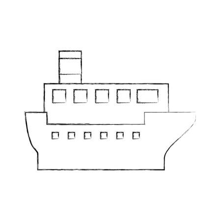 Transport maritime logistique maritime maritime maritime cargo illustration vectorielle Banque d'images - 87386062