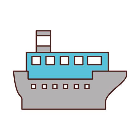 Transport maritime logistique maritime maritime maritime cargo illustration vectorielle Banque d'images - 87386074