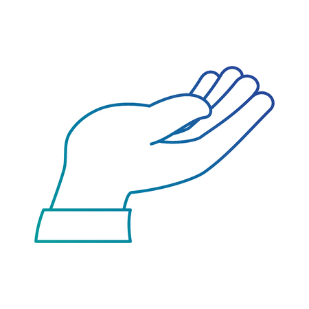 인간의 손에받는 아이콘 벡터 일러스트 디자인