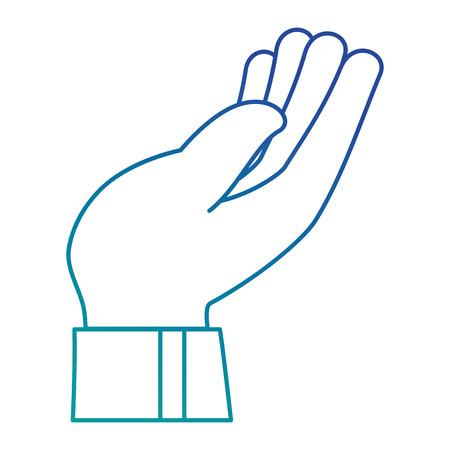 hand human receiving icon vector illustration design Illustration