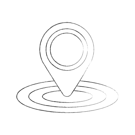 Pin mapa gps ubicación signo navegación vector ilustración Foto de archivo - 87386080