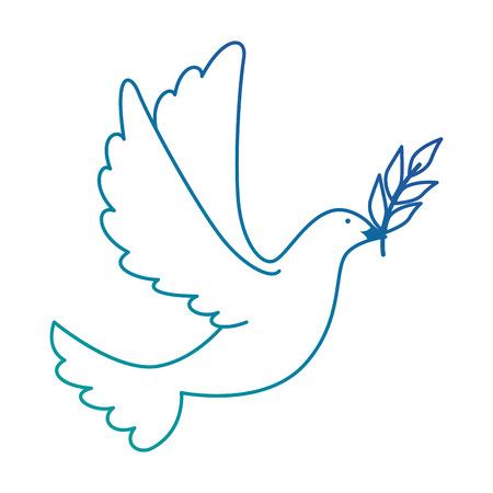 올리브 분기 벡터 일러스트 레이 션 디자인을 비행하는 평화의 비둘기 일러스트