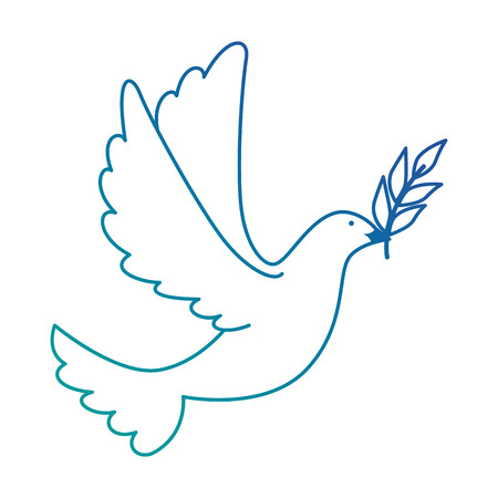 dove of peace flying with olive branch vector illustration design Ilustracja