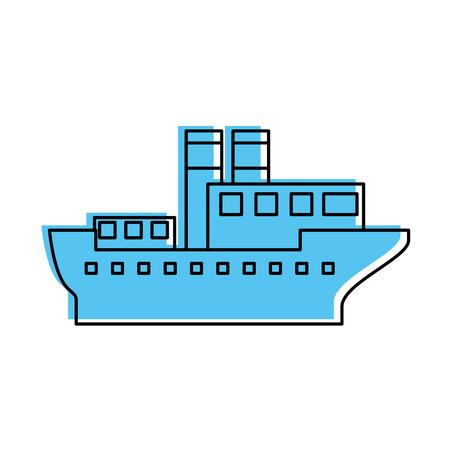 Transport maritime logistique maritime maritime maritime cargo illustration vectorielle Banque d'images - 87386089