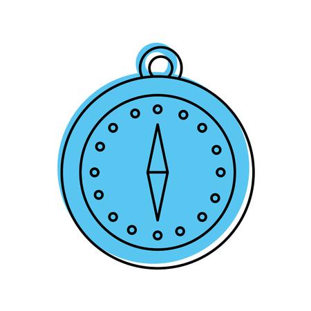 Boussole magnétique de la boussole et l & # 39 ; emplacement de la publicité point illustration vectorielle Banque d'images - 87386090