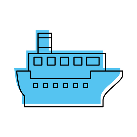sea transportation logistic maritime shipping cargo ship vector illustration Stock Vector - 87386097
