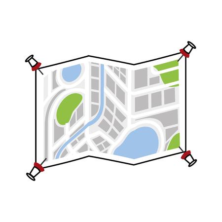 白い背景のベクトル図に分離されたポインターのマップ ナビゲーション gps