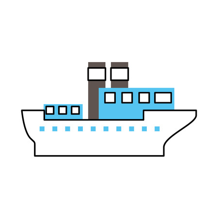 sea transportation logistic maritime shipping cargo ship vector illustration Stock Vector - 87386192