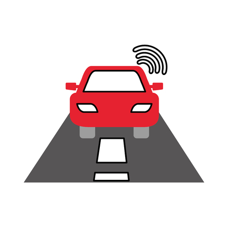 navigator: navigation gps signal street car transportation vector illustration