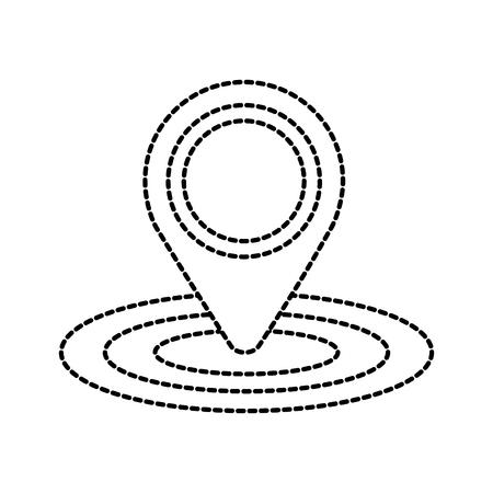 Mapa de creta gps ubicación de navegación signo vector illustration Foto de archivo - 87386212
