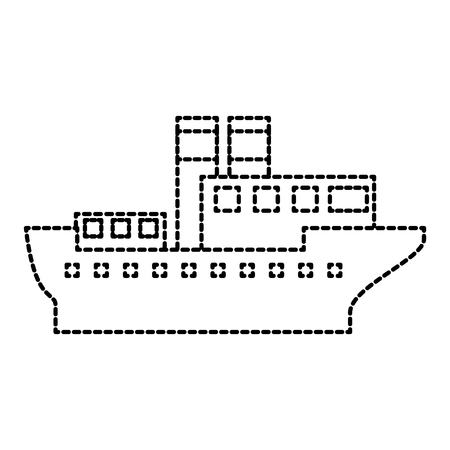 sea transportation logistic maritime shipping cargo ship vector illustration
