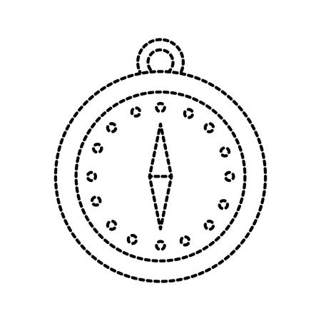 magnetic compass navigation orienteering and location point vector illustration Ilustração