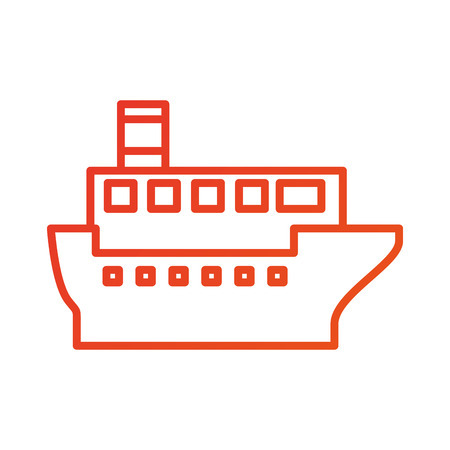 sea transportation logistic maritime shipping cargo ship vector illustration Stock Vector - 87386242