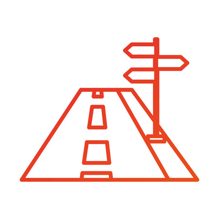 navigation concept road with sign traffic vector illustration