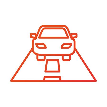 道路交通ナビゲーションの概念ベクトル イラスト漫画車