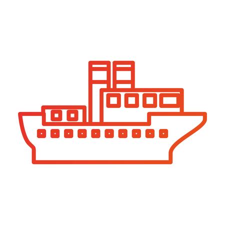 海輸送ロジスティック海上輸送貨物船ベクトル図  イラスト・ベクター素材