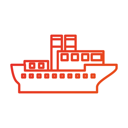 Transport maritime logistique maritime maritime maritime cargo illustration vectorielle Banque d'images - 87386252