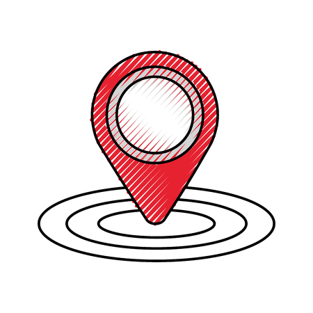 pin map gps location sign navigation vector illustration