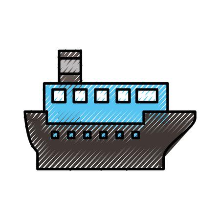 sea transportation logistic maritime shipping cargo ship vector illustration Stock Vector - 87386301