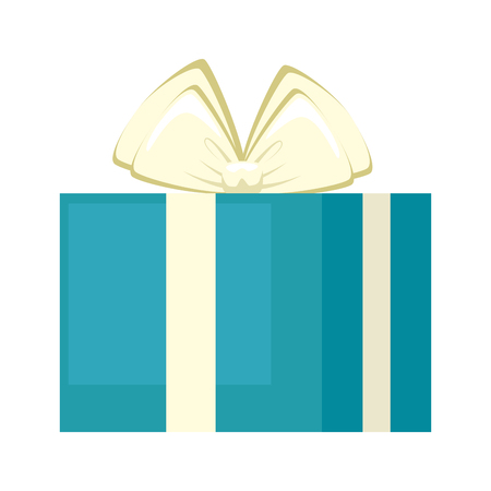 giftbox present holiday icon vector illustration design Illustration