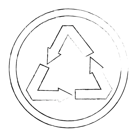 recycle arrows symbol icon vector illustration design Ilustrace