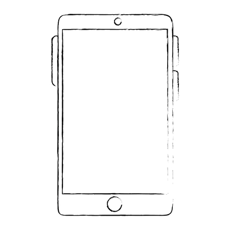 multimedia icons: smartphone device isolated icon vector illustration design