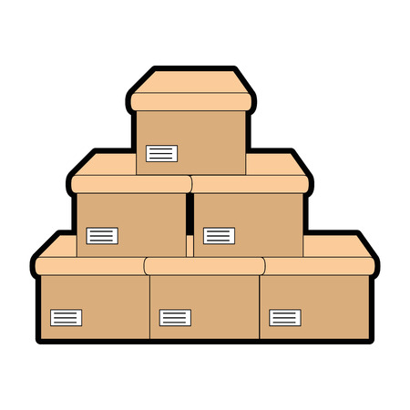 boxes carton isolated icon vector illustration design