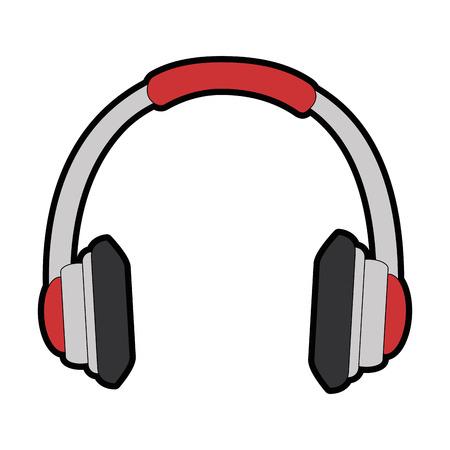 device: earphones audio isolated icon vector illustration design Illustration