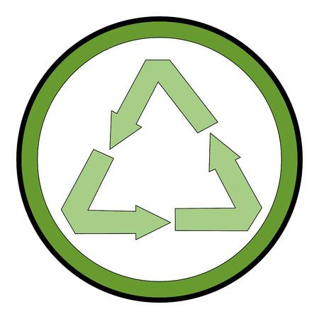 recycle arrows symbol icon vector illustration design Illusztráció
