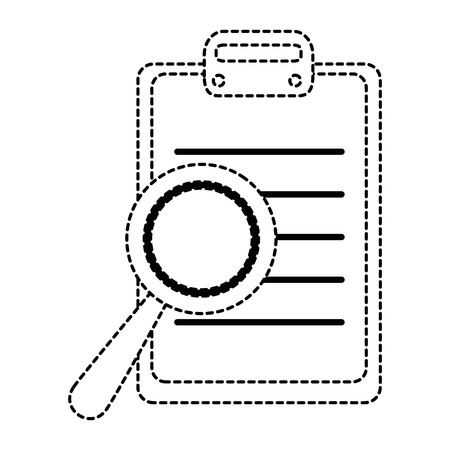 opinion: checklist clipboard with magnifying glass vector illustration design