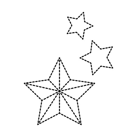 decorative stars isolated icon vector illustration design Ilustrace