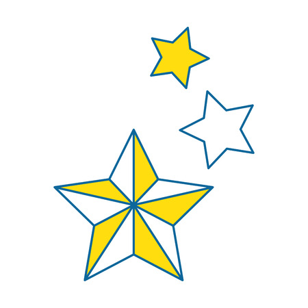 decorative stars isolated icon vector illustration design Illustration