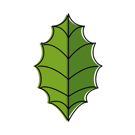 leaf christmas decoration icon vector illustration design