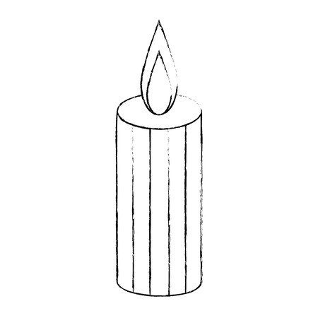 celebration candle isolated icon vector illustration design
