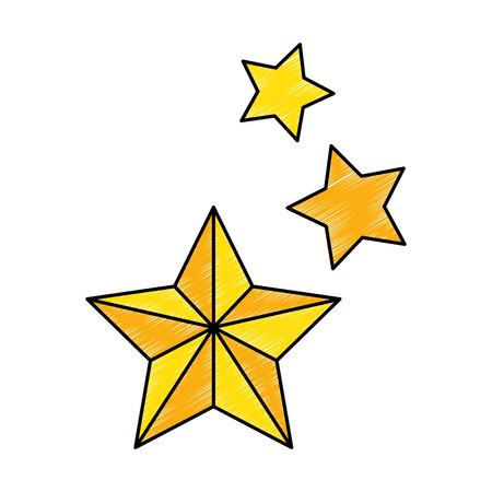 decorative stars isolated icon vector illustration design Illustration