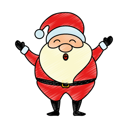 cute santa claus character vector illustration design Illusztráció