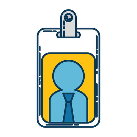 worker badge isolated icon vector illustration design Illusztráció