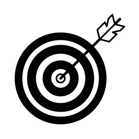Doel met pijl icoon vector illustratie ontwerp Stock Illustratie
