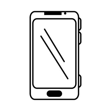cellphone icon: smartphone device isolated icon vector illustration design