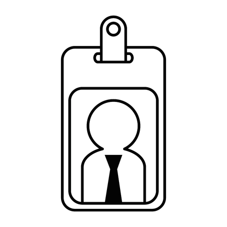 worker badge isolated icon vector illustration design Ilustração