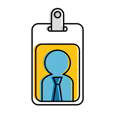 worker badge isolated icon vector illustration design Illustration