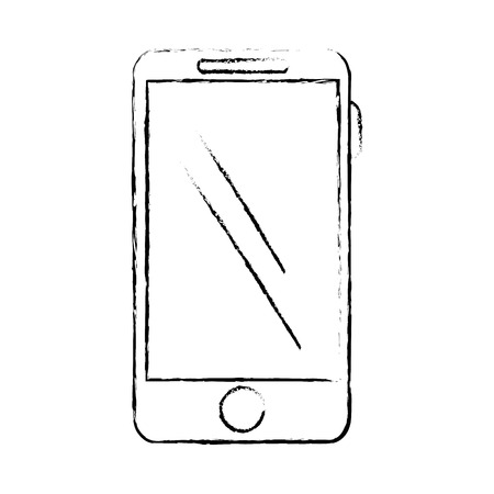 smartphone icon: smartphone device isolated icon vector illustration design