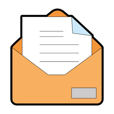 paper note: mail envelope isolated icon vector illustration design