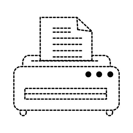 프린터 기계 격리 아이콘 벡터 일러스트 디자인 스톡 콘텐츠 - 87569046