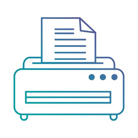 printer machine isolated icon vector illustration design