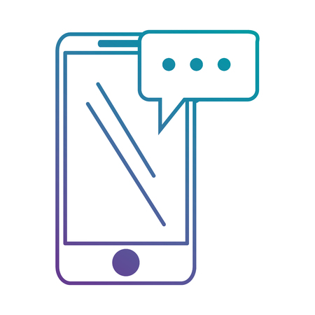 smartphone icon: smartphone device with speech bubble vector illustration design Illustration