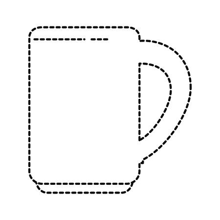 Leuke kopje koffie pictogram vector illustratie ontwerp