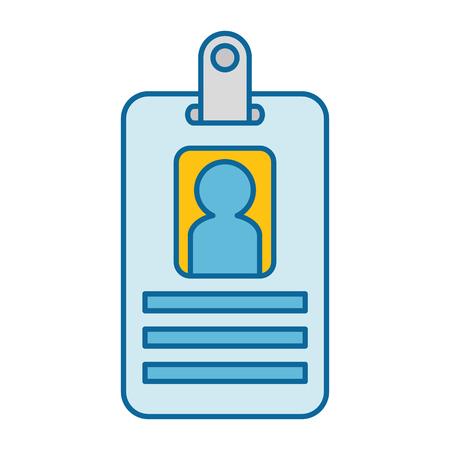 worker badge isolated icon vector illustration design Illustration