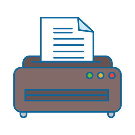 printer machine isolated icon vector illustration design