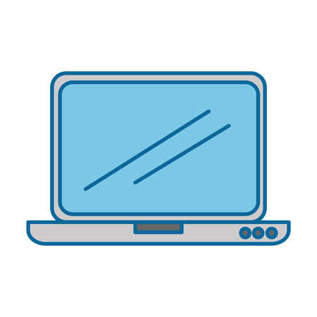 laptop screen: laptop computer isolated icon vector illustration design